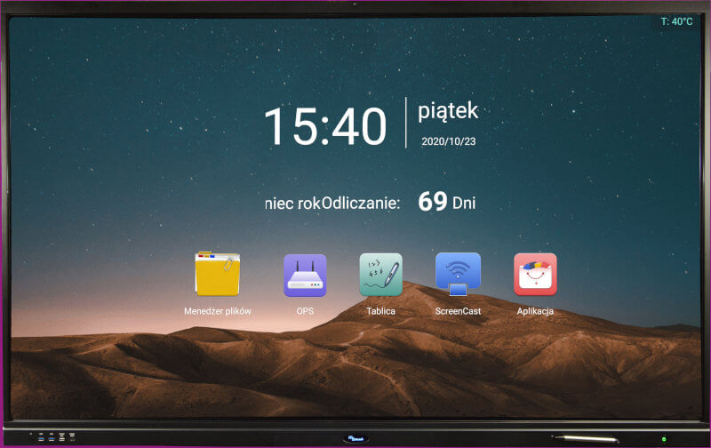 "Monitor interaktywny IDBoard 75"" Android 8.0 4K Cam"